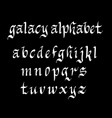 galacy alphabet typography vector image vector image