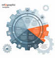 gear circle infographic template vector image