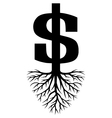 Growing dollars vector | Price: 1 Credit (USD $1)