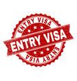 grunge textured entry visa stamp seal vector image