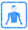 guy body framed stamp vector image vector image