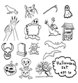 Halloween objects icon set vector image vector image