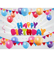Happy birthday celebration with colorful balloon a vector image vector image
