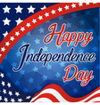 Happy Independence Day Celebration Card vector image vector image