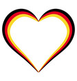 heart shape flag of germany i love germany vector image vector image