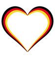 heart shape flag of germany i love germany vector image