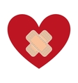 heart with bandages isolated icon design vector image vector image