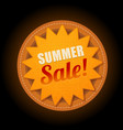 hot summer sale sun sticker symbol sign vector image vector image