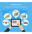 Insurance Policy Services Concept vector image vector image
