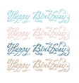 Isolated abstract colorful happy birthday writing vector image vector image