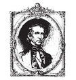 john tyler vintage vector image vector image
