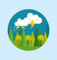 landscape day isolated icon vector image vector image