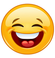laughing with closed eyes emoticon vector image vector image