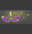 mardi gras decoration vector image vector image