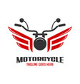 motorcycle and wing logo vector image