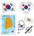 national colours of South Korea vector image