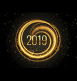 new year 2019 light effect background vector image vector image