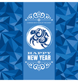 New year greeting card with sheep vector image vector image