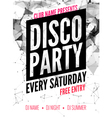 night dance disco party design template