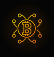 orange bitcoin and cryptocurrency outline vector image vector image