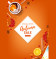 orange flyer for autumn seasonal sale vector image vector image