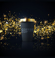 paper coffee cup mock-up vector image vector image