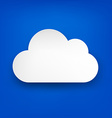 Paper white cloud on blue vector image vector image