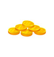 pile of shiny golden coins unit of currency vector image vector image