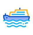 pleasure boat icon outline vector image