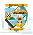 Public taxi creative poster vector image vector image