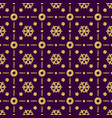 purple christmas pattern background with golden vector image vector image