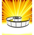 ray background with film strip vector image vector image