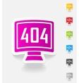 realistic design element 404 error program vector image