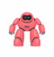 red robot vector image vector image