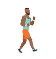 running man in flat design style sport vector image vector image
