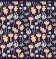 seamless flower pattern with cutout florals vector image vector image