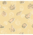 seamless pattern with minerals vector image