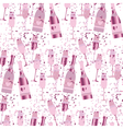 seamless pattern with sparkling alcohol beverage vector image vector image