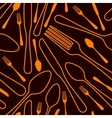 seamless silverware background vector image vector image