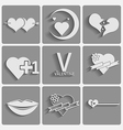 Set valentine day icons vector image vector image