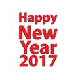 Simple 2017 year background vector image