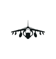 simple black fighter jet icon on white background vector image vector image
