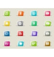 Social media simply icons vector image