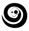 Spiral skeleton spirit vector image