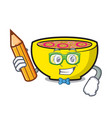student soup union character cartoon vector image vector image