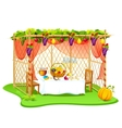 Sukkah for celebrating Sukkot vector image vector image