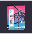 summer paradise graphic t-shirt design vector image vector image