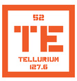 Tellurium chemical element vector image vector image