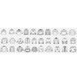 various warm knitted sweaters doodle set vector image vector image