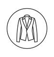 woman jacket icon line vector image vector image